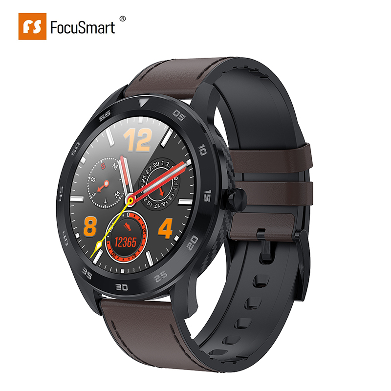 FocusSmart <font><b>DT98</b></font> <font><b>Smart</b></font> <font><b>Watch</b></font> Full Touch Screen Heart Rate Blood Pressure Sports Tracker Fitness For IOS Android IP68 Waterproof image
