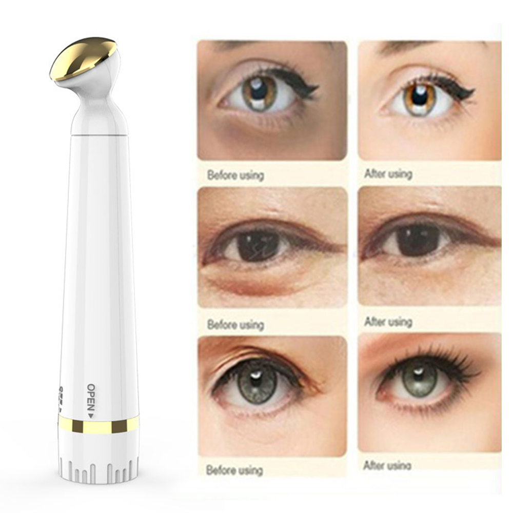 Mini Electric Vibration Eye Massager Anti Wrinkle Eye Massage Anti Aging Dark Circle Removal Eye Care Massage Pen Device