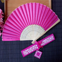 Personalized Luxurious Silk Fold hand Fan in Elegant Laser Cut Gift Box +Party Favors/wedding Gifts 50pcs/lot