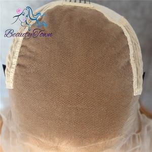 Image 5 - BeautyTown براون الأسود 13x6 كبير الدانتيل الحرة جزء فوتورا مقاومة للحرارة لا تشابك الشعر طبقة ماكياج اليومية الاصطناعية الدانتيل شعر مستعار أمامي