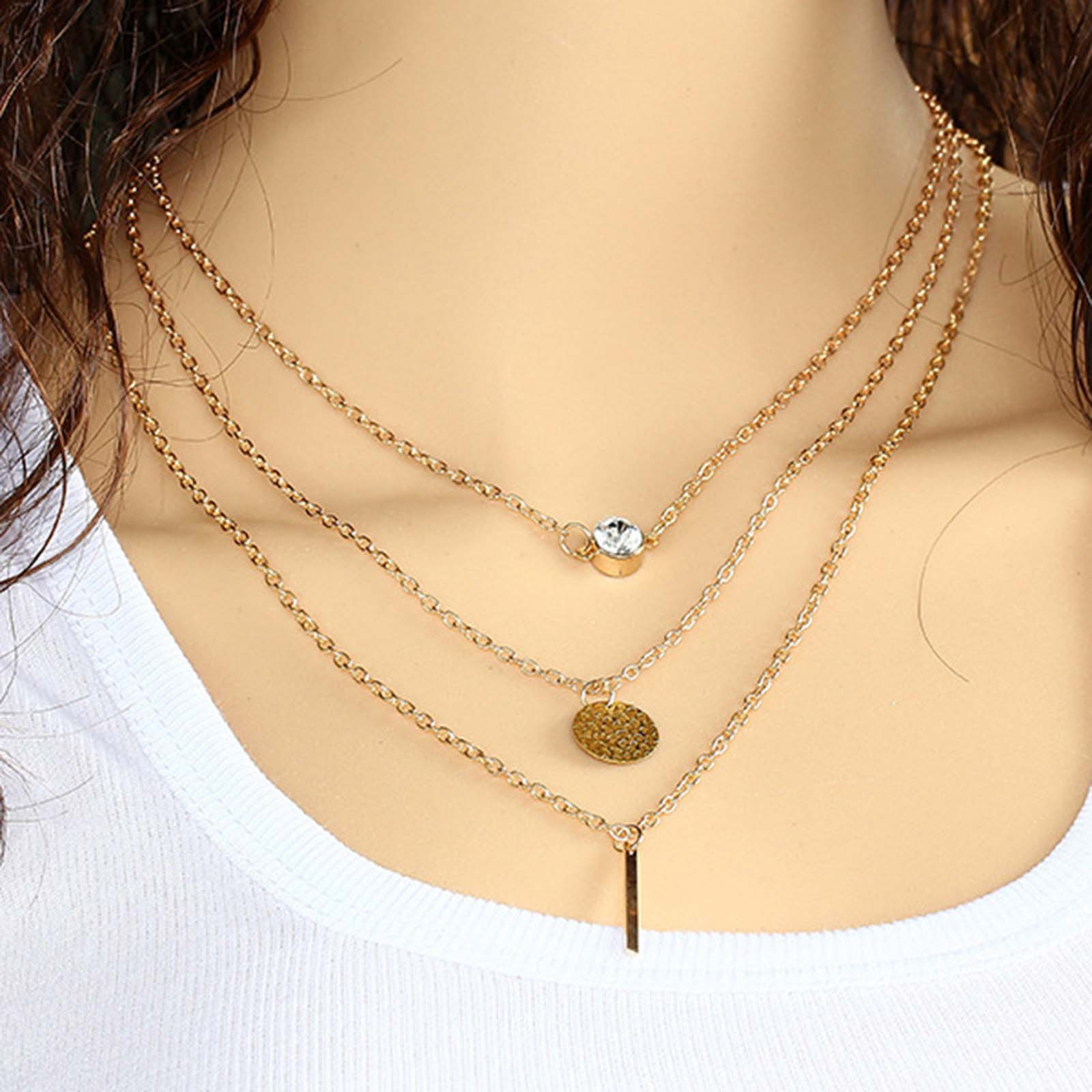Women's Moon Star Necklace Choker Necklace Gold Silver Long Chain Jewelry Valentine's Day Necklace Female Fahson Jewelry L3