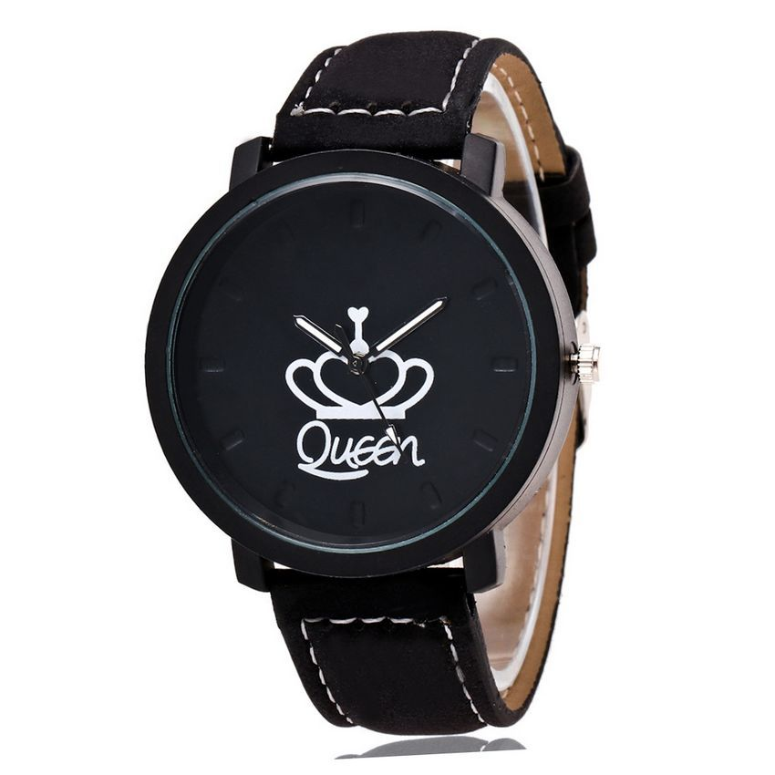 2020 New Best Selling King / Queen Text Control Men Watch Women Watches Popular King Queen Couple Watches For Lovers Gifts