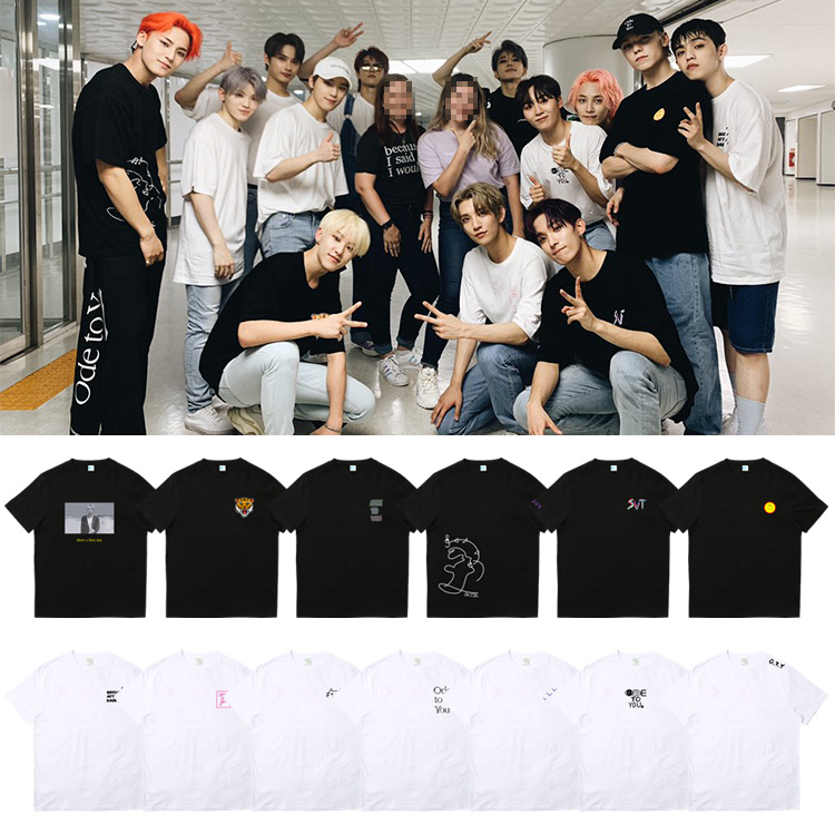 Kpop SEVENTEEN World Tour Ode To You T-shirt Unisex Casual Crew Neck Tee Tops