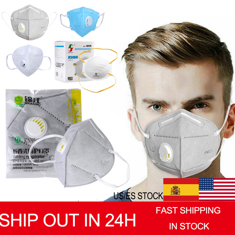 KN95 Face Mask Dustproof Windproof Respirator Valve PM 2.5 Respirator Mask With Breath Valve Anti-Dust Pollution Mask Ffp2