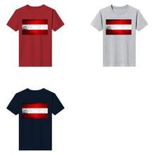 Economical Print New T-shirt O-neck Flag Of Austria Grunge Custom Made Short-sleeved Cotton Top Mens Fashion 2021 Short Sleeve