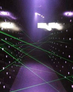 Image 3 - green blue red laser game magic penetralium escape props Real green laser array chamber secret funny laser safe maze game