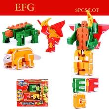 цена на 4FUN Transformation Robot 24 letters DIY Creative Bricks Deformation Building Blocks Early Toys for Children