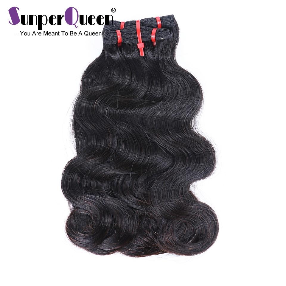 Бразильские волнистые пучки волос, волнистые двойные волосы 12A Funmi, необработанные натуральные волосы H натурального цвета