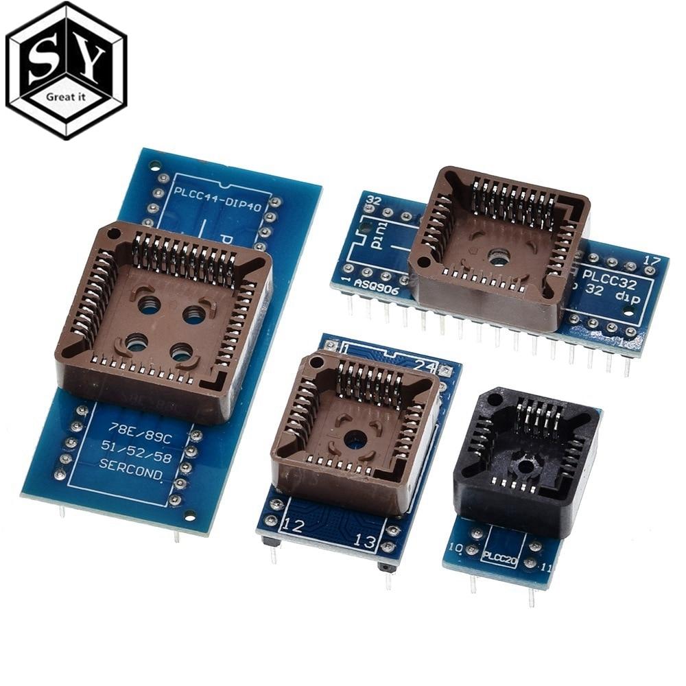 Универсальный программатор PLCC20 PLCC28 PLCC32 PLCC44 для DIP 20 28 32 44 USB IC АДАПТЕР тестер с розеткой для TL866CS TL866A EZP2010