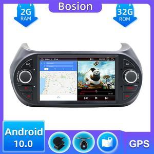 Автомобильный мультимедийный плеер для Fiat Fiorino/Qubo/Citroen Nemo/Peugeot Bipper Android 10,0 с бесплатной камерой, Canbus, картой