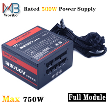 Wovibo Full Module PC Power Supply PSU Rated 500W Max 750W 120mm Fan Gaming 24PIN 12V ATX Computer fuente de alimentacion