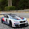 1:24 BMW M6 GT3 Free Wheeling High Light Sport Racing Car Model Toy Diecast Metal Alloy Miniature Replica