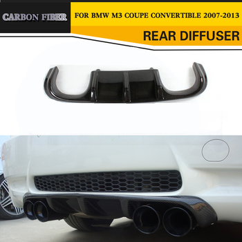 Carbon Fiber Add On car Rear Bumper lip Spoiler Diffuser for BMW E92 M3 2008 - 2013 Convertible Black FRP image