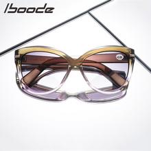 IBOODE okulary Cat Eye okulary do czytania okulary kobiety mężczyźni okulary korekcyjne okulary kobieta mężczyzna nadwzroczność okulary anty UV powiększające okulary tanie tanio Przezroczysty Unisex Lustro 5 8cm Z tworzywa sztucznego YJ7624 5 9cm