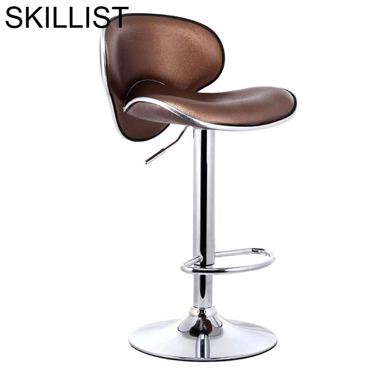Para Barra Sandalyesi Stoel Fauteuil Ikayaa Sedie Barkrukken Stuhl Leather Stool Modern Cadeira Tabouret De Moderne Bar Chair in Bar Chairs from Furniture