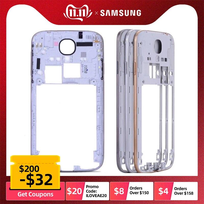 Original Middle Frame Housing For SAMSUNG Galaxy S4 Housing I9505 I9500 I337 Bezel With Power Volume Button GT-i9505 GT-i9500