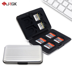 Large Waterproof Memory Card Case All in One Anti-Shock 8SD+8TF Large Capacity Storage Holder Box Cases Silvery+Black