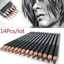 12B Pencil Marker-Ink Drawing-Pen Sketch-Pen Fine-Line 6B 14pcs/Pack Black 4H Ultra 8B