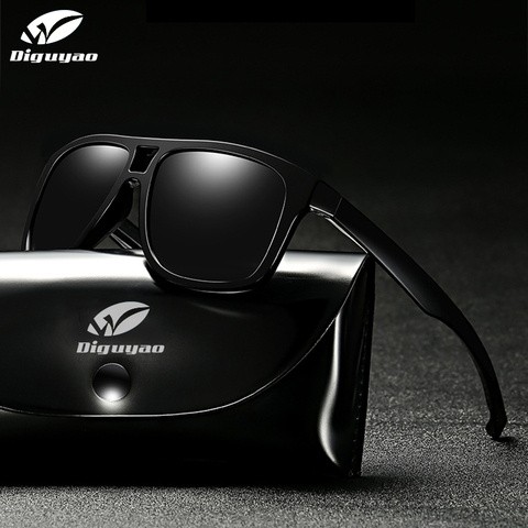 DIGUYAO square sunglasses men polarized shield mirrored sun glasses for male UV400 driving man sunglasses eyewear goggle Lahore