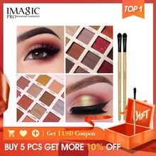 IMAGIC Fashion Eyeshadow Palette 16 Color Matte Eye Shadow Palette Lasting Makeup Nude Makeup Set Cosmetics Send Brush