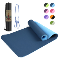 72x24IN Non slip Yoga Mat TPE Eco Friendly Fitness Pilates Gymnastics Mat Gift Carrying Strap and Storage Bag yoga accessories