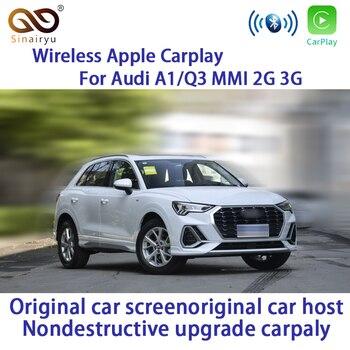 Sinairyu Aftermarket A1 Q3 MMI RMC OEM Wifi interfaz de Apple CarPlay inalámbrica para Audi con pantalla táctil cámara de marcha atrás