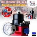 Универсальный автомобильный регулятор давления топлива FPR комплект 6AN AN6 фитинги для шланга масла 0-100psi датчик черный, красный