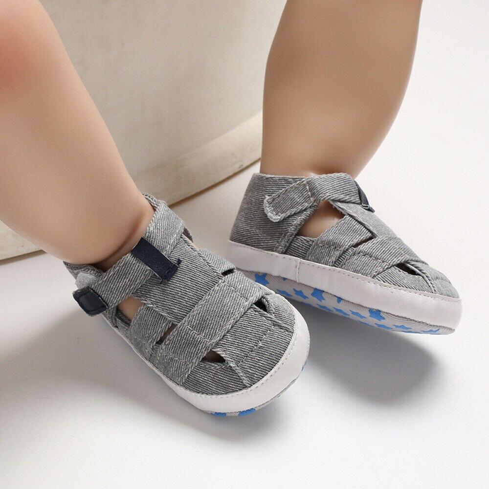 Unisex 2019 New Summer Newborn Baby Boy Girl Sandals Soft Sole Crib Shoes Sneaker Prewalker Baby Casual Shoes