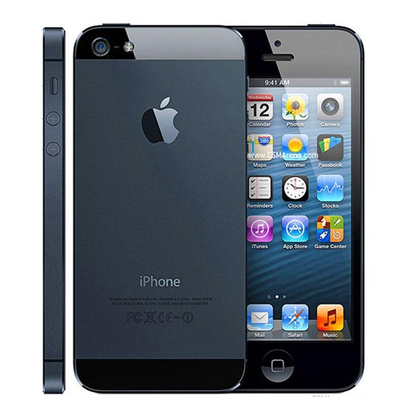 Оригинальный iPhone 5 разблокированный мобильный телефон 16 Гб/32 ГБ/64 Гб ПЗУ двухъядерный 3g 4,0 дюйма 8MP камера iCloud wifi gps IOS OS сотовые телефоны - 3