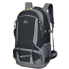 Uomini 70L unisex in nylon impermeabile zaino pacchetto di viaggio borsa sportiva Trekking Allaria Aperta Arrampicata Alpinismo Campeggio zaino per il maschio