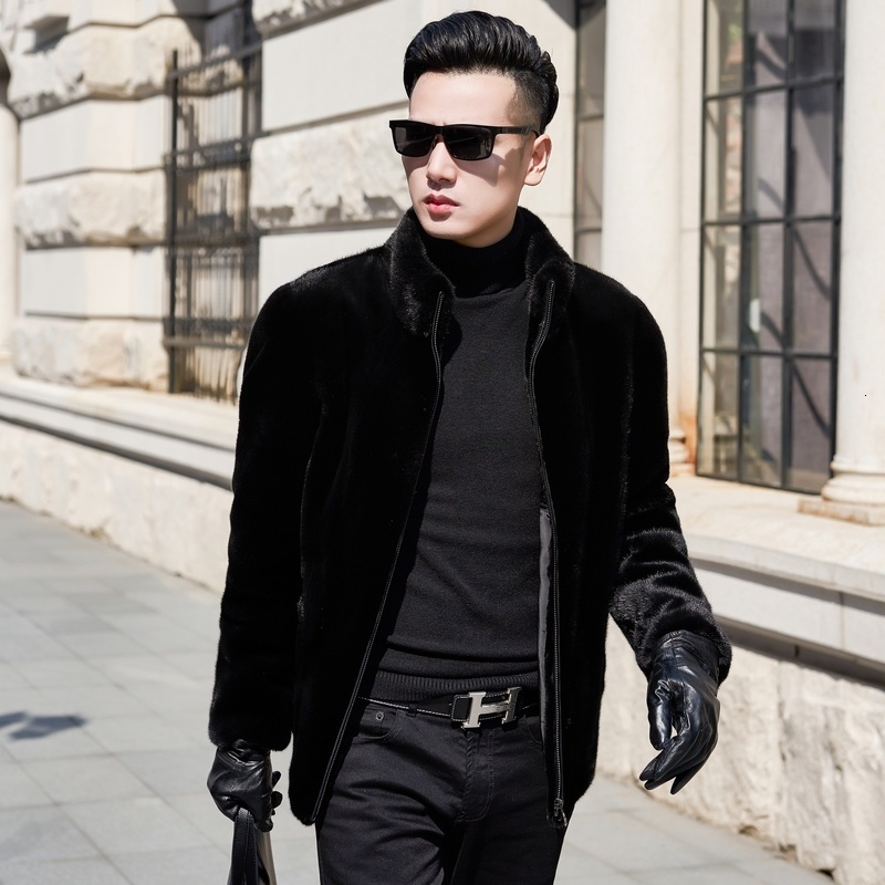 Real Fur Coat Men Natural Mink Fur Coat Winter Jacket Men Clothes Mens Real Shearling Warm Outwear Veste Homme ND0601B YY657