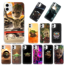 Silicone Case Coque for Apple iPhone 11 Pro XR X XS MAX SE(2020) 11 Pro MAX 7 8 6 6S Plus 5S TPU Soft Cover Baby Yoda Too Cute