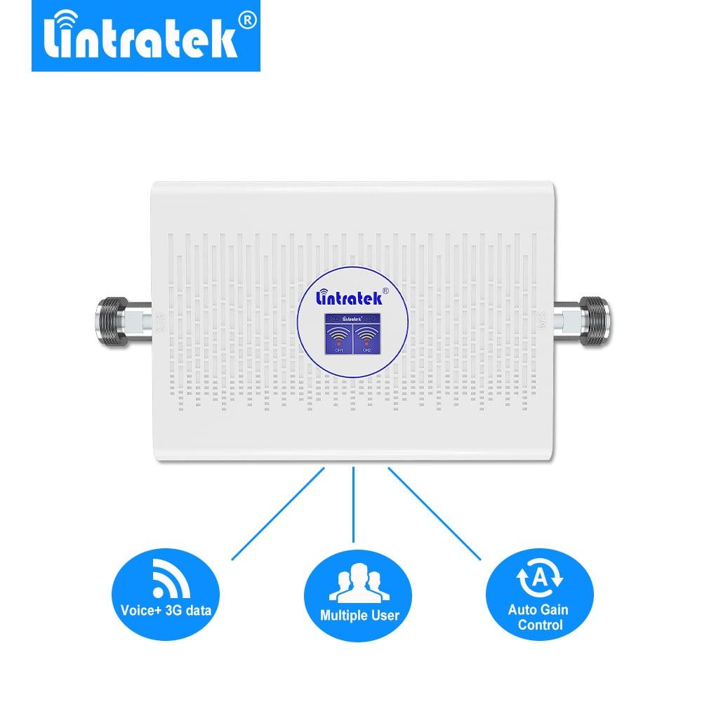Lintratek 70dB 23dBm Amplificador Señal Movil 2g 3g 850mhz 1900mhz Umts Pcs Lcd Signal Amplifier Repeditor ALC AGC NEW Arrival @