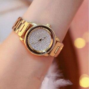 Image 2 - New Luxury Women Watches Austrian crystal Lady Dress Watch Stainless Steel Rhinestone Silver Gold Bracelet diamond Wristwatches