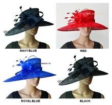 Vente en gros nouvelle grande robe à LARGE bord Sinamay chapeaux chapeaux déglise, pour les courses, Melbourne cup, mariage kentucky derby. LIVRAISON GRATUITE