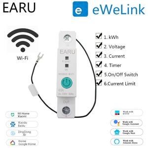 1P Din Rail Wifi Smart Energy Meter Stroomverbruik Kwh Meter Circuit Breaker Tijd Tijdschakelaar Relais Voltmeter Voor smart Home