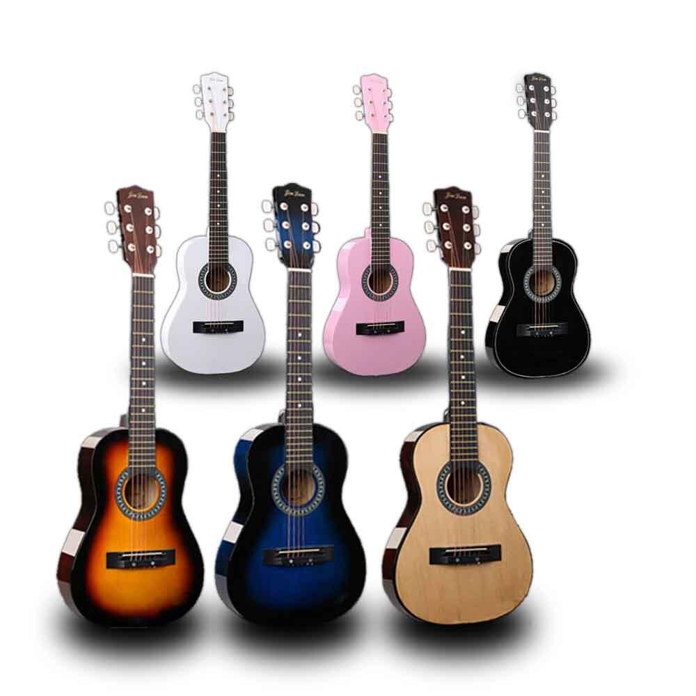 30 pouces guitare Folk acoustique Guitarra 6 cordes Top qualité tilleul pour enfants débutant donner des choix cadeau AGT05