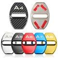 4 шт., автомобильные защитные крышки из нержавеющей стали для Audi A1 A3 A4 A5 A6 A7 A8 Q3 Q5 Q7 S8 TT, автомобильные аксессуары