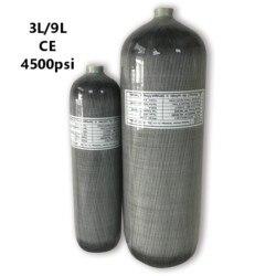 Acecare Pcp cilindro de Rifle de aire 3L/9L Ce 4500Psi tanque de buceo de fibra de carbono con aire comprimido Paintball Airforce Condor