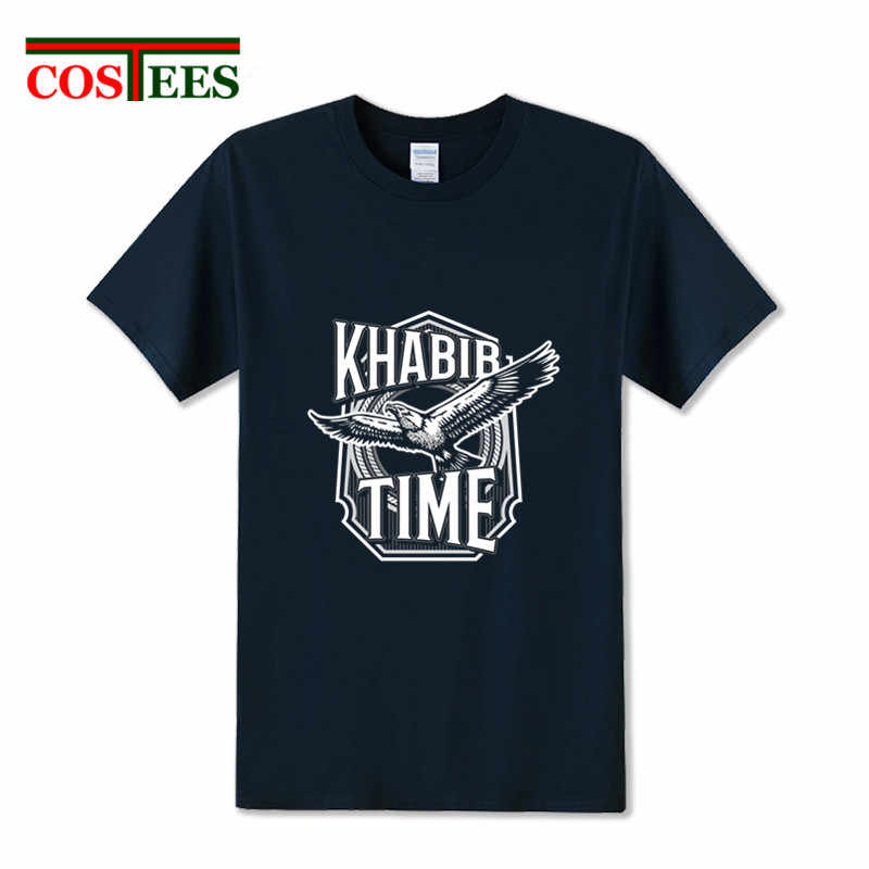 Camiseta MMA Khabib เวลาเสื้อ Eagle เสื้อยืด 2020 ใหม่แฟชั่นการออกแบบ Khabib Nurmagomedov T เสื้อผู้ชายผ้าฝ้าย UFC Fighter tees