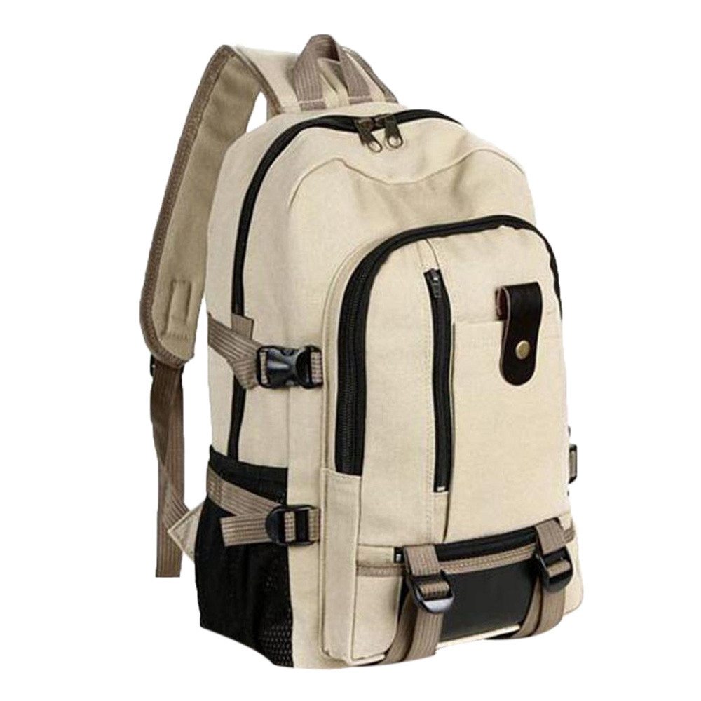 Bags Backpack Mochila Satchel Canvas Travel Leisure Vintage Outdoor Men - title=