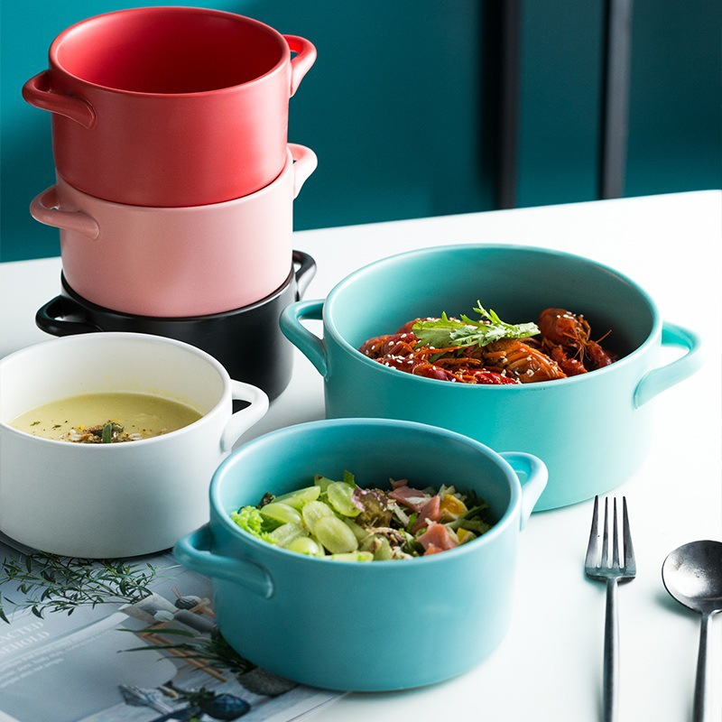 Creative Ceramic Straight hot Soup Pot Simple caserol Household Kitchen Hotel Tableware stock pots cookware ceramic cooking pot