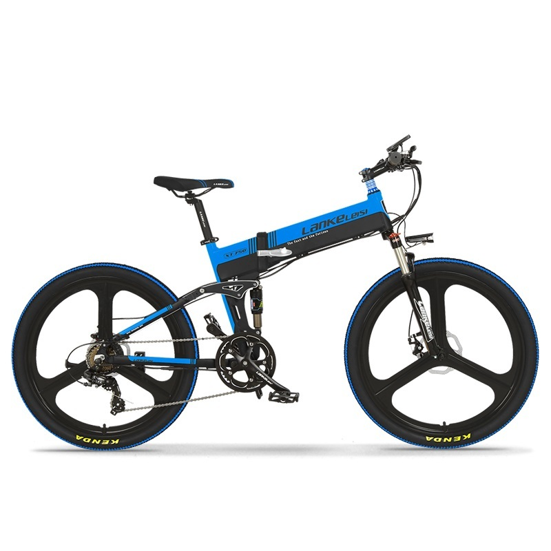 2020 China  LANKELEISI  26 inch bike electric mountain 27 Speeds Hydraulic Suspension Fork 250W 48V 10Ah Lithium Baterry 5