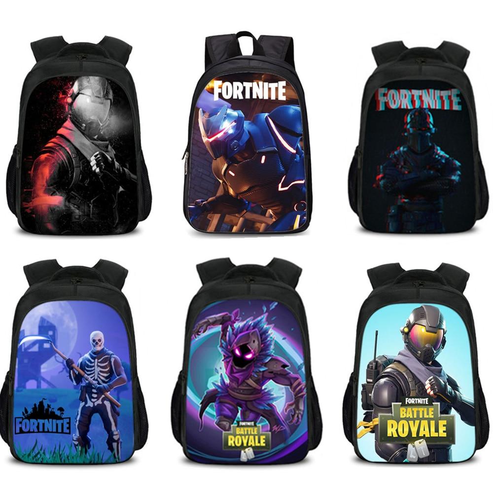 3Pcs/Set Fortnite Game Backpack Bag Rucksack Pencil Case 3D Cartoon Shoulder Backpack Wallet Action Figure Toy For Kids Gift