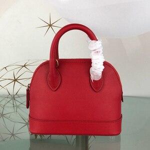 Image 4 - Sac à main de luxe pour femmes, sacoche tendance, sacoche de styliste de marque célèbre pour dames, sac en vrai cuir à coquille, 2020