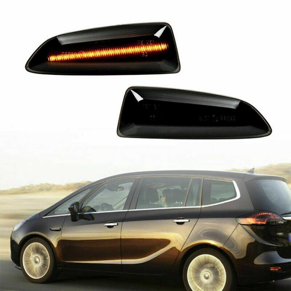 ตัวบ่งชี้ไฟหน้าสำหรับ Opel Zafira Tourer ABS Amber แบบไดนามิกด้านข้าง MARKER