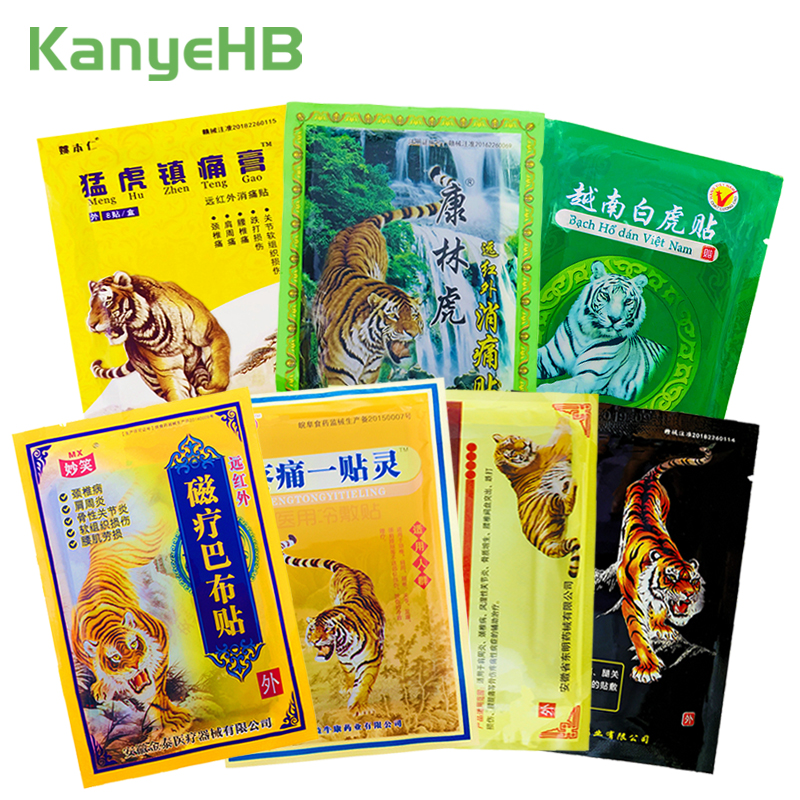 8Pcs/bag Of 7 Types Tiger Balm Plaster Joint Arthritic Body Pain Relieving Patch 100% Original Chinese Herbs Medical Ointment