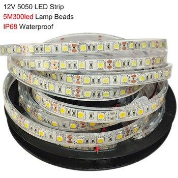 цена на IP68 Waterproof In Tube DC12V 5050 SMD RGB RGBW WW LED Strip Light flexible Strip Light 60Leds/m Led Tape Home Decor led Lamp