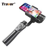Turbolor stabilizzatore PTZ palmare a 3 assi giunto cardanico telefono cellulare videocamera Gopro Selfie Stick ricarica USB supporto per registrazione Video universale
