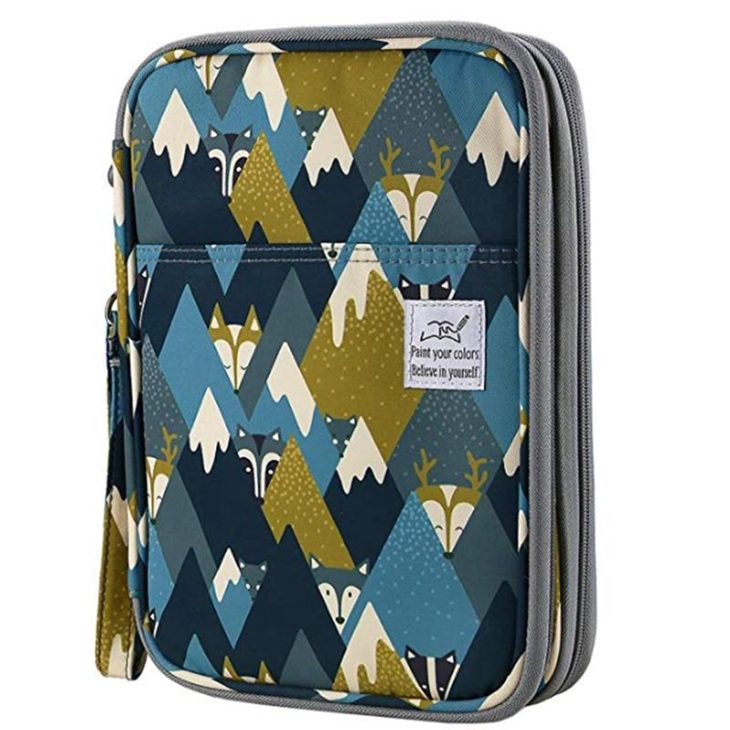 192 Slots Large Capacity Pencil Bag Case Organizer Cosmetic Bag For Colored Pencil Watercolor Pen Markers Gel Pens Bag